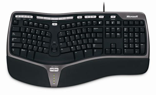 wired microsoft natural ergonomic split keyboard